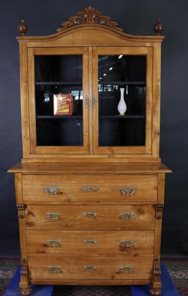 Antikes Kirschbaum Aufsatzmöbel mit Schreibkommode