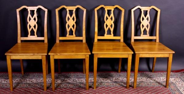 Stühle Biedermeier Birke 4er-Satz
