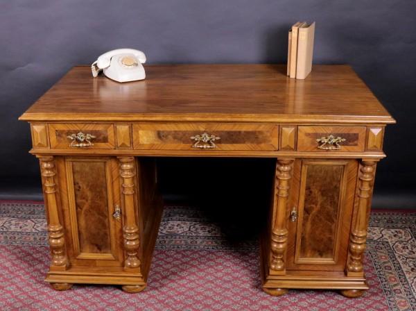 Antiker Schreibtisch Nussbaum Gründerzeit