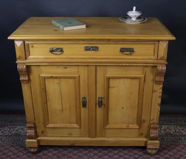 Antiker Halbschrank / Kommode mit einer Schublade um 1880