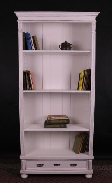 Repro Bücherregal weiss, shabby-chic, Gründerzeitstil
