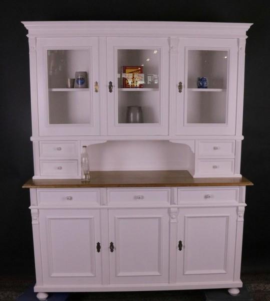 Repro Küchenschrank weiß lackiert, shabby-chic