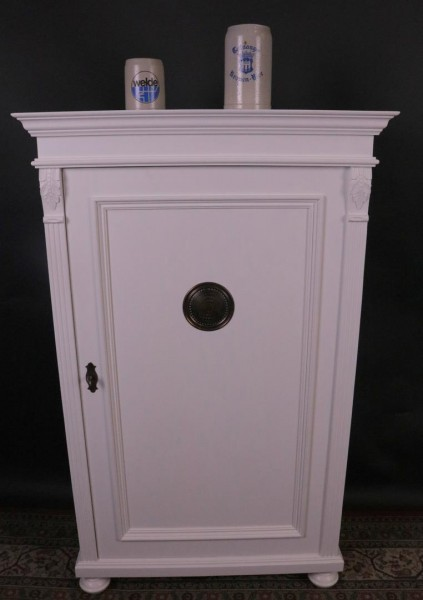 Vorratscchrank weiß lackiert einttürig Weichholz