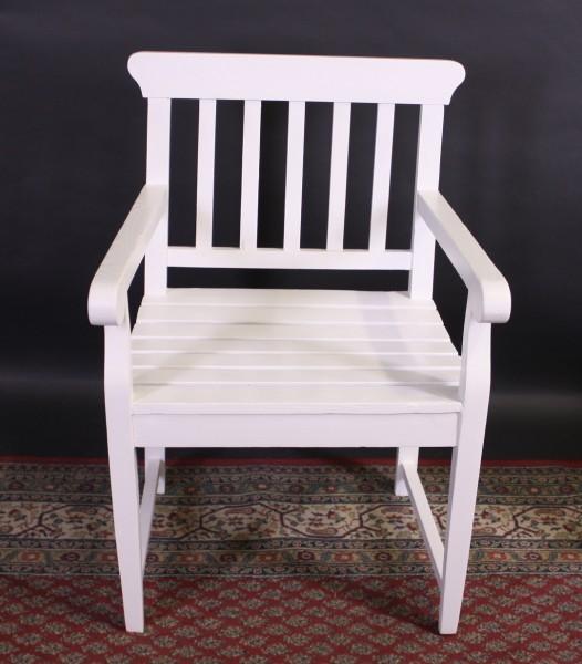 Armlehnstuhl weiß lackiert