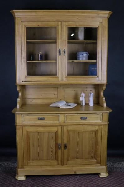 Antiker Spätbiedermeier Küchenschrank Weichholz / Buche