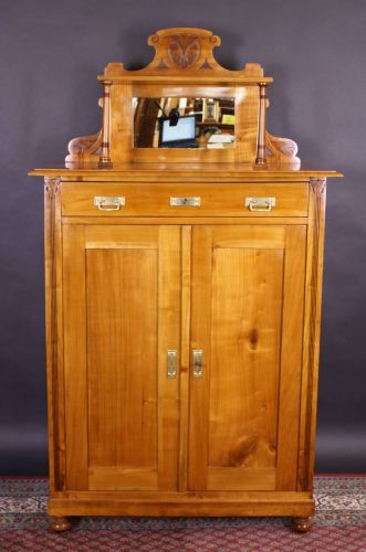 antikm bel jugendstil vertiko aus kirschbaum ebay. Black Bedroom Furniture Sets. Home Design Ideas
