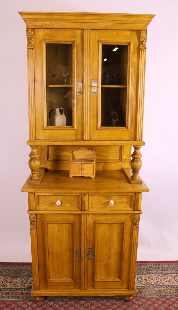 nachbau k chenschrank helles weichholz im gr nderzeitstil kohler. Black Bedroom Furniture Sets. Home Design Ideas