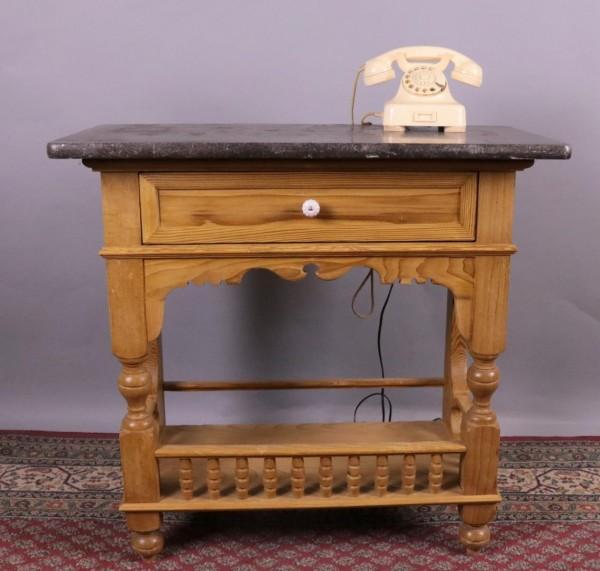 Antiker Konsoltisch Weichholz mit Marmorplatte 1890