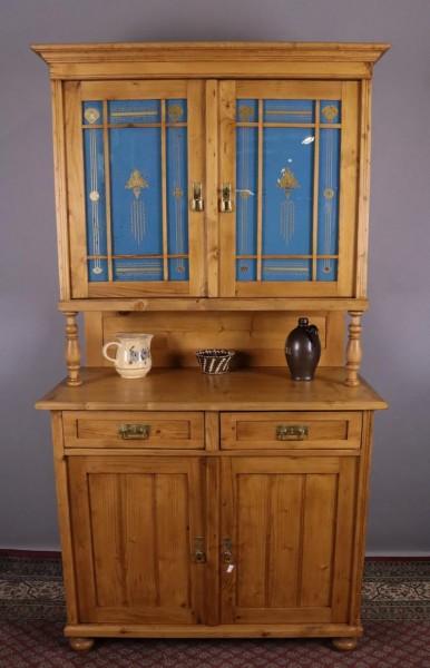 Antiker Küchenschrank Weichholz um 1890