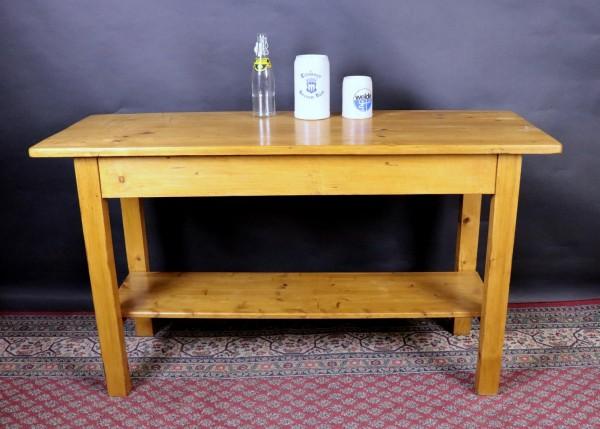 Tisch schmal Weichholz aus der Jugendstilzeit