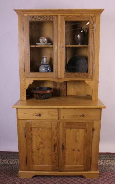 Antiker Küchenschrank Weichholz natur um 1860