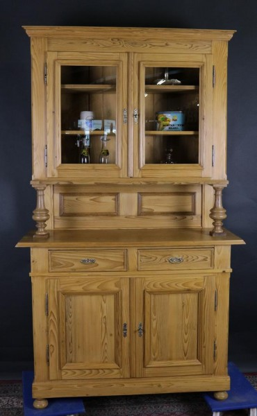 Küchenschrank Weichholz Spätbiedermeier um 1870 mit Säulen