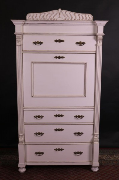Antike Möbel Sekretär weiß, shabby-chic, vintage-stil