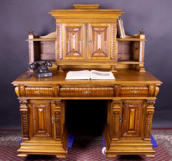 niederh fer s hne schreibtisch nu baum kohler. Black Bedroom Furniture Sets. Home Design Ideas