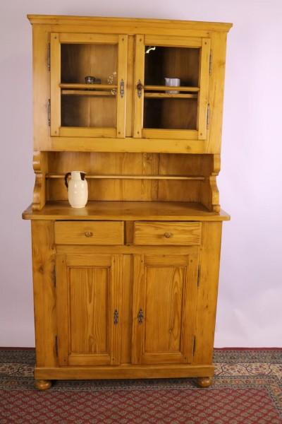 Antiker Weichholz Küchenschrank um 1850