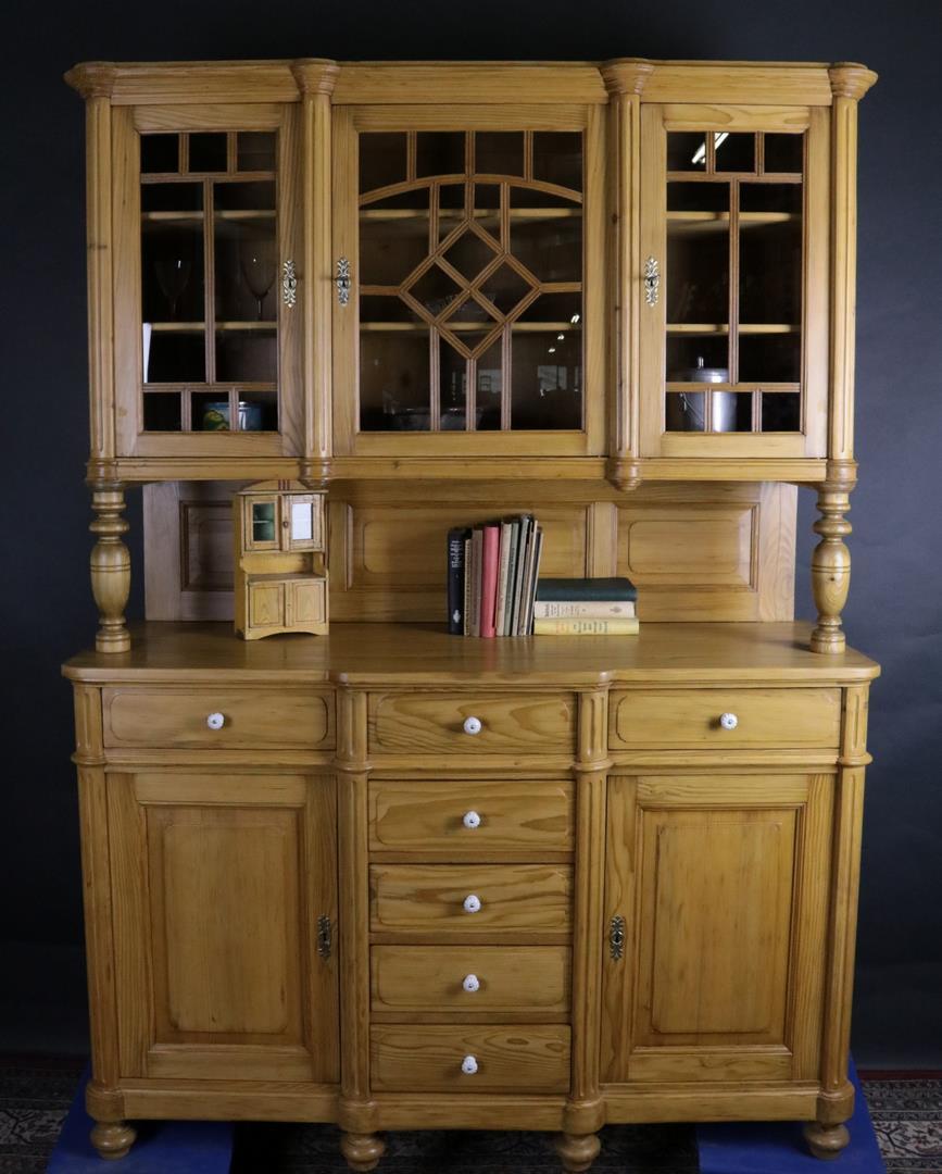 au ergew hnliches antikes b ffet anrichte weichholz um 1900 kohler. Black Bedroom Furniture Sets. Home Design Ideas