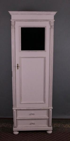 Gründerzeit Besenschrank mit Fenster und zwei Schubladen