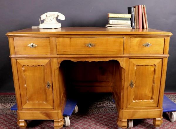 Antiker Schreibtisch Kirschbaum massiv um 1870 gefertigt