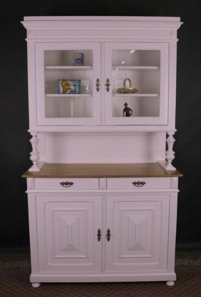 Gründerzeit Küchenbüffet / Küchenschrank weiß lackiert