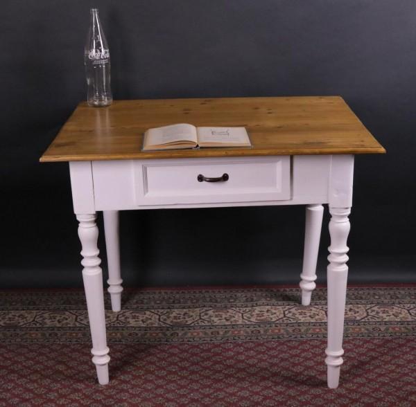 Antik Tisch weiß lackiert Gründerzeit