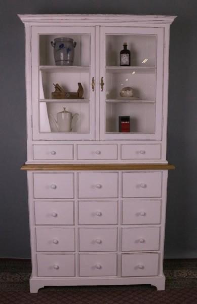 Umbau Apothekenschrank, 15 Schubladen weiß shaby-stil, vintage.look