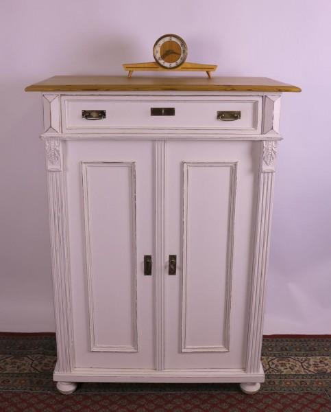 Antikes Vertiko aus der Gründerzeit weiß vintage stil 1880
