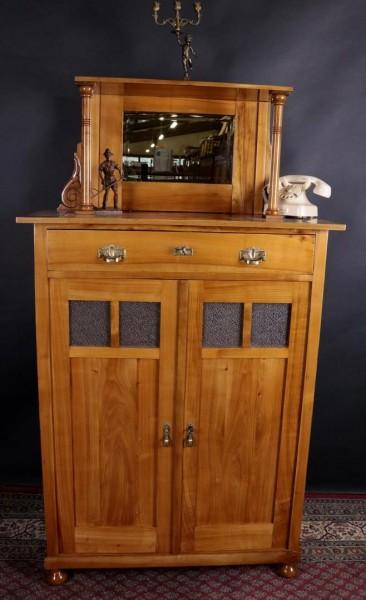 vertiko kirschbaum jugendstil um 1900 gefertigt kohler. Black Bedroom Furniture Sets. Home Design Ideas