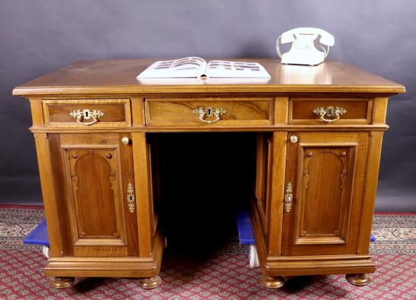 Antiker Schreibtisch Nussbaum um 1900