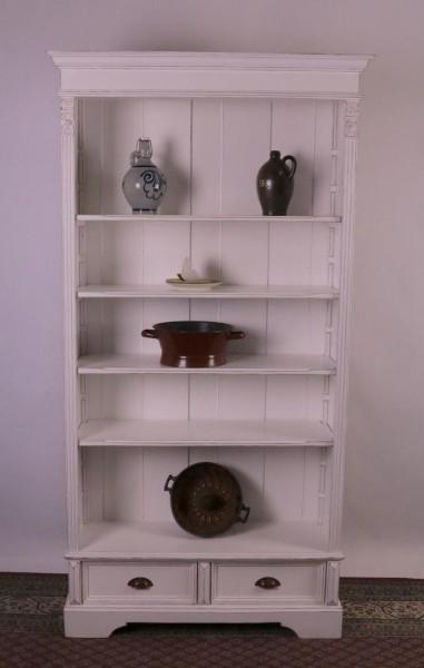 Umbau Bücherregal mit Schubladen vintage-Stil