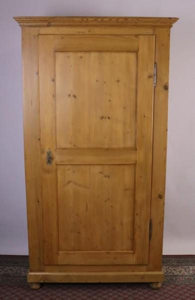 Antiker Biedermeierschrank eintürig Weichholz