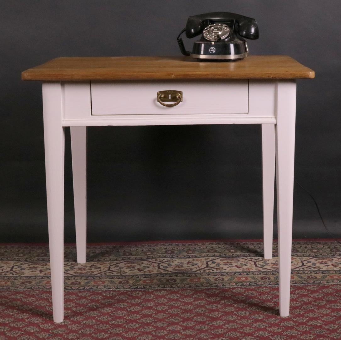 tisch wei lackiert platte eiche kohler. Black Bedroom Furniture Sets. Home Design Ideas