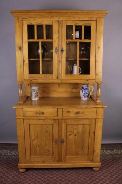 Antikmöbel Küchenschrank Weichholz Vollsäulen um 1900 gebaut