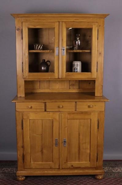Antikmöbel Küchenschrank Weichholz Biedermeier um 1860