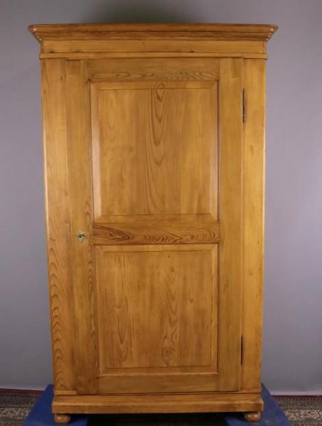Antiker Kleiderschrank eintürig Weichholz um 1850