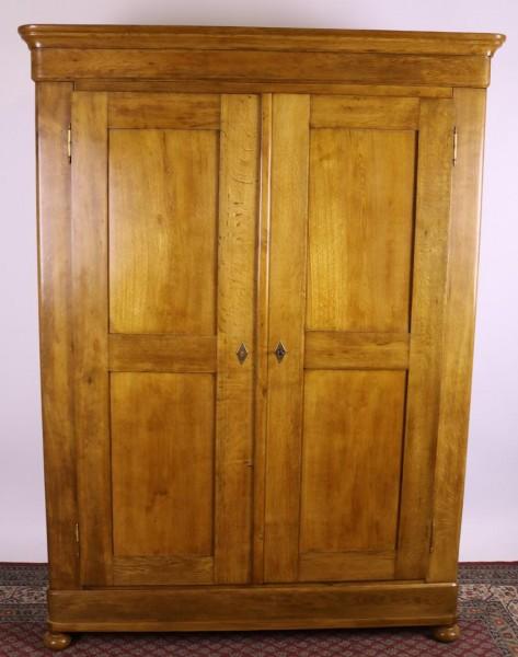 Antiker Biedermeier Eichenholz Kleiderschrank